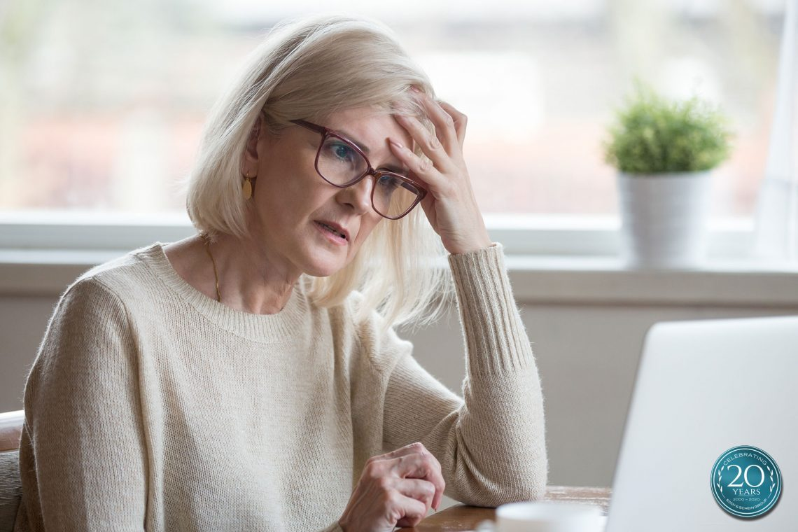 Eddy And Schein Woman Reading Bank Statement Concerned Shutterstock 1185179209 Badge 1920x1280